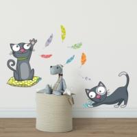 DekorLoft Yaramaz Kediler Çocuk Odası Duvar Sticker CS-320