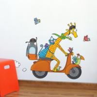 DekorLoft Komik Motorcu Çocuk Odası Duvar Sticker CS-332