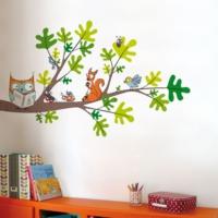 DekorLoft Çalışkan Baykuş Çocuk Odası Duvar Sticker CS-334