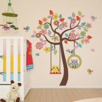 DekorLoft Mutlu Ağaç Çocuk Odası Duvar Sticker CS-348