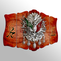Turkuaz Dekoratif 5 Parçalı Desenli MDF Tablo LM5103385