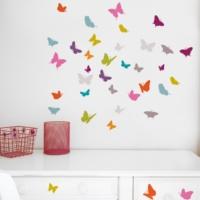 DekorLoft Özgür Kelebekler Duvar Sticker DS-170