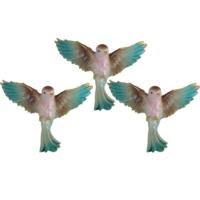 Uçan Kuş Duvar Süsü 3 lü Mavi