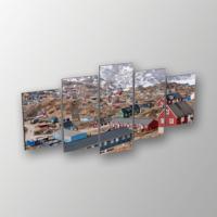 Printix Dağ Evleri Dekoratif Mdf Tablo