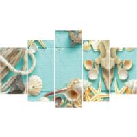 Printix Deniz Kabukları Dekoratif Mdf Tablo