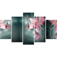 Printix Kelebek Ve Orkide Dekoratif Mdf Tablo