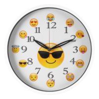 Rikon Düz Cam Emoji Duvar Saati