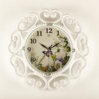 Rikon Dekoratif Renkli Duvar Saati-Çiçek