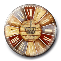 Rikon Dekoratif Bombeli Cam Duvar Saati