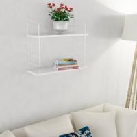Decormet Armoni Raf ve Kitaplık Seti 2 Raflı 200X720 Beyaz-Parlak Beyaz