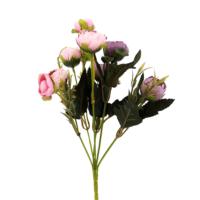 Hunga Şakaik 9 Top Demet Yapay Çiçek Pembe Eflatun