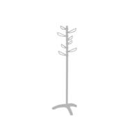 Primanova Yaprak Ayaklı Portmanto Beyaz