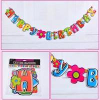 Partypark Happy Birthday Banner - Çiçekler (2,5 mt)
