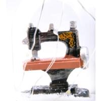 Pratik Işıklı Müzikli Dikiş Makinesi Büyük Boy Retro Kar Küresi