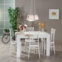 Mobetto Hanımeli Masa + 4 Adet Soho Sandalye – Beyaz