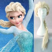 Pandoli Frozen Karlar Ülkesi Elsa Örgülü Parti Çocuk Saç Peruk
