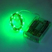 Pandoli Beyaz Kablolu 3 Metre Yeşil Renk Pilli Led Işık