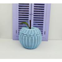 Cosıness Hasır Dekoratif Elmalı Sepet - Bebe Mavisi