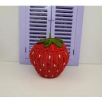Cosıness Hasır Dekoratif Çilekli Sepet - Kırmızı