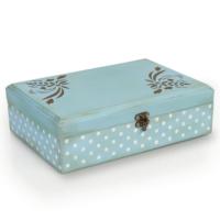 Orta Sofa Orta Sofa Puanlı eskitme mavi kutu