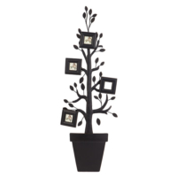 Evdebir Home 4Lü Resim Çerçeveli Soy Ağacı Metal Duvar Panosu