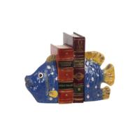 Evdebir Home Lacivert Balık Kitap Tutucu