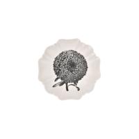 Evdebir Home Siyah & Beyaz Çiçekli Seramik Tabak