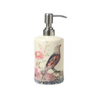 Evdebir Home Kuş Temalı Seramik Sıvı Sabunluk-Losyonluk