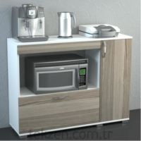 Dekorister Charlotta Çok Amaçlı Dolap Mutfak Dolabı Beyaz/ Cordoba