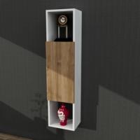 Dekorister Novella K4 Çok Amaçlı Asma Dolap Beyaz - Ceviz
