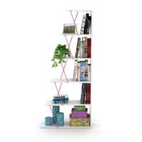 Rafevi Tars Mini Kitaplık Beyaz-Pembe