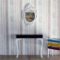 Te Home Lande Dresuar+Ayna Takımı Mürdüm Beyaz