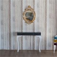 Te Home Lande Dresuar+Ayna Takımı Gri Altın