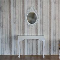 Te Home Lande Dresuar+Ayna Takımı Krem-Beyaz