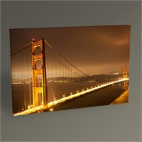 Tablo 360 San Francisco Golden Gate Bridge At Night Tablo 45X30