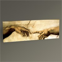 Tablo 360 Michelangelo Buonarroti Yaratılış Tablo 90X30