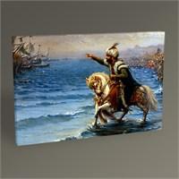 Tablo 360 Fausto Zonaro-Atını Denize Süren Fatih Tablo 45X30