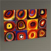 Tablo 360 Wassily Kandinsky Karelerle Renk Etüdü Tablo 45X30