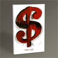 Tablo 360 Andy Warhol Dollar Sign Tablo 45X30