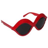 Pandoli Kırmızı Öpücük Şekilli Parti Gözlüğü