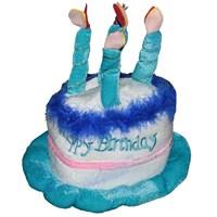 Pandoli Mavi Doğum Günü Pastası Şekilli Happy Birthday Şapka