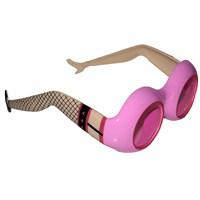 Pandoli Bayan Bacakları Şekilli Parti Gözlüğü - Pembe