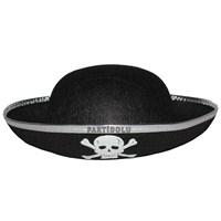 Pandoli Siyah Korsan Parti Şapkası Çocuk Boy