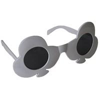 Pandoli Maça Simgeli İskambil Parti Gözlüğü - Beyaz