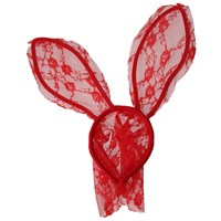 Pandoli Tavşan Tacı Dantel Tüllü - Kırmızı