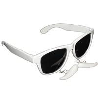 Pandoli Bıyıklı Parti Gözlüğü - Beyaz