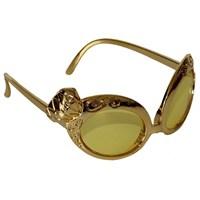 Pandoli Tektaş Pırlanta Şekilli Parti Gözlüğü - Altın