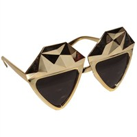 Pandoli Kristal Elmas Parti Gözlüğü - Altın