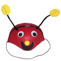 Pandoli Kırmızı Uğur Göceği Başlığı Hayvan Şapkası