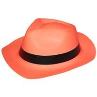 Pandoli Turuncu Fosforlu Plastik Şeritli Şov Şapkası